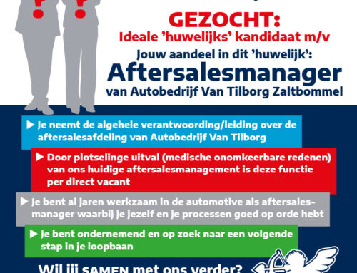 Vacature Aftersalesmanager